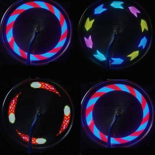 spaak wiel verlichting met 30 patronen en motion sensor