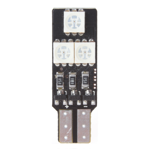 T10 W5W Canbus RGB en flash LED 6x 5050SMD LED set ?í 2stuks
