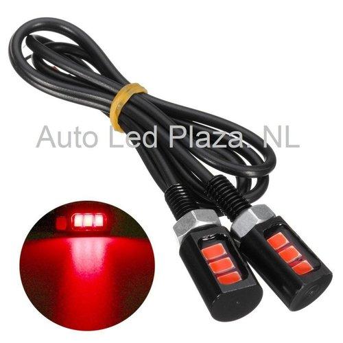 Universeel 3x 5730SMD LED Rood opbouw mini lichtunit
