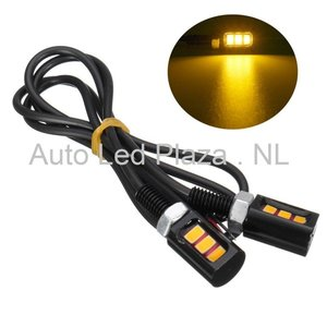 Universeel 3x5730SMD LED interieur sfeer licht GEEL AMBER