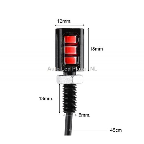 Universeel 3x5730SMD LED interieur sfeer licht Roze Lila