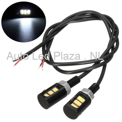 Universeel 3x5730SMD LED interieur sfeer licht WIT
