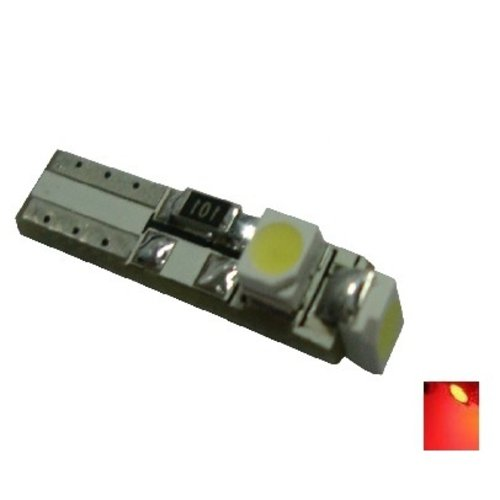 Canbus T5 3x 1210SMD LED rood