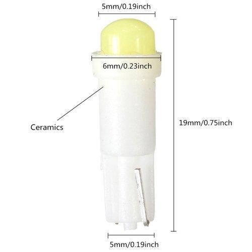 COB LED T5 0,5W COB Glow LED geel/amber