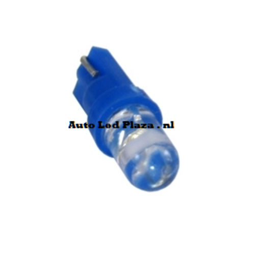 T5 1 LED rond Blauw