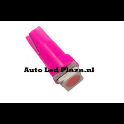 T5 1x 5050smd LED Roze