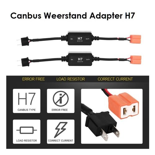 H7 canbus led verlichting weerstand plug and play 2st