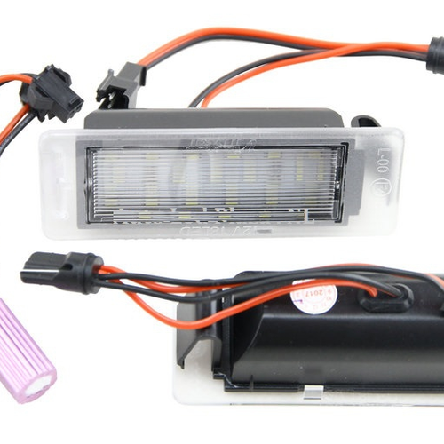 Plug & play LED license plate lighting sets