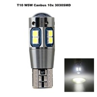 T10 W5W 10x 3030smd Canbus white