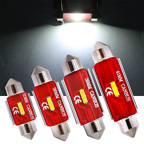 CSP LED C5W Festoon canbus 31mm 1860SMD Highpower wit