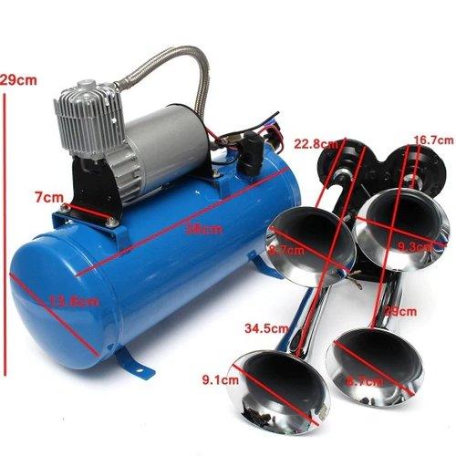 styleparts Trein hoorn set incl compressor 12V