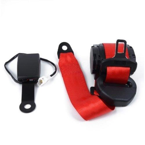 styleparts Verstelbare Intrekbare Rode Autogordel Heupgordel 3-Punts Veiligheidsriem 26700N