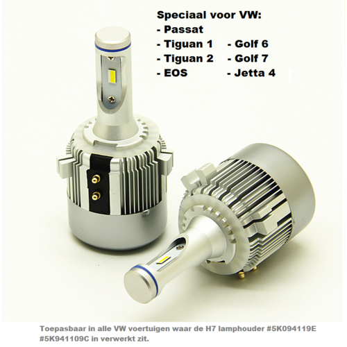 CSP LED Plug and play High CSP Canbus LED dimlicht set voor o.a. volkwagen