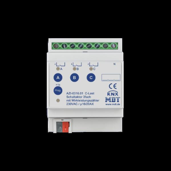 MDT 3 voudige Schakelactoren AZI  16/20A C-Last met meting actief vermogen
