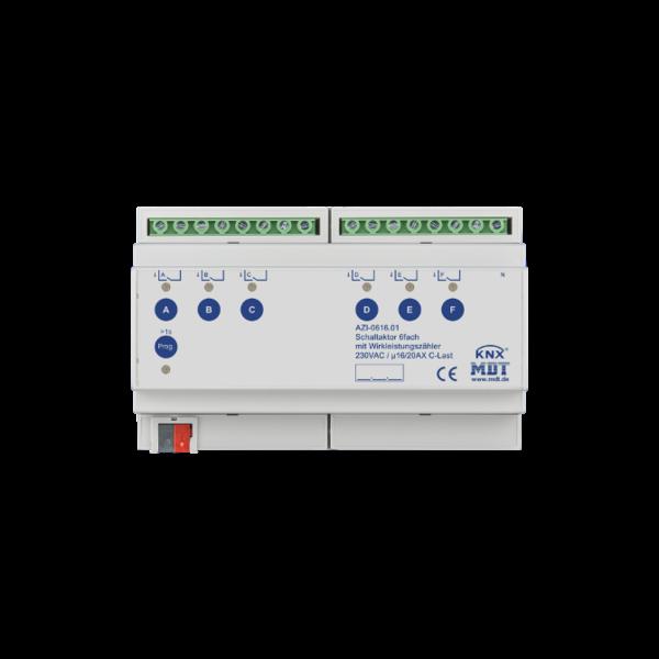 MDT 6 voudige Schakelactoren AZI  16/20A C-Last met meting actief vermogen