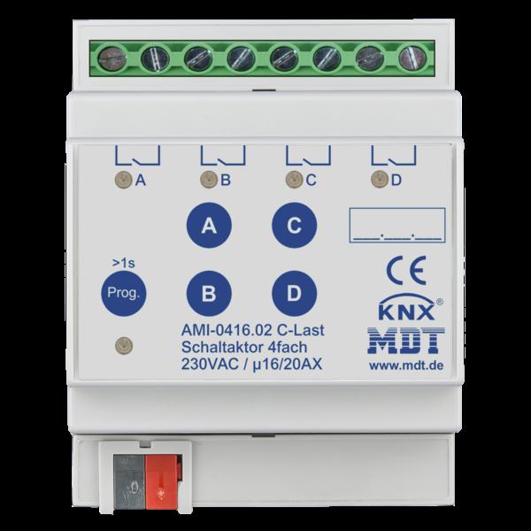 MDT Schakelactoren  AMI met  stroommeting 4 voudig 16/20 AC-last 200µF