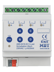 MDT Schakelactoren AMI met  stroommeting 8 voudig 16/20A C-last 200µF