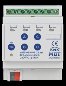 MDT Schakelactoren AMS / AMI met  stroommeting 4 voudig 16AC-last 140µF