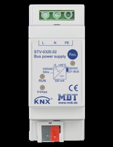 MDT 320 mA KNX-busvoeding met geïntegreerde smoorspoel 2TE Dinral