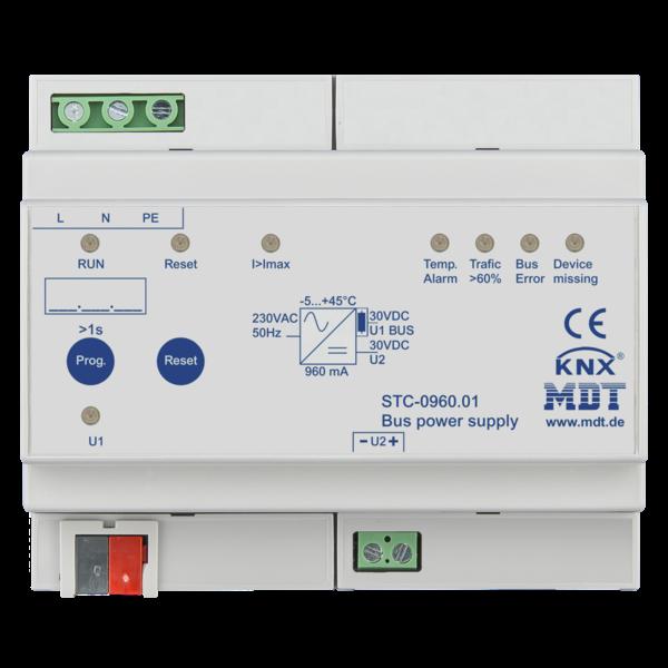 MDT 960mA Busvoeding met diagnosefunctie 6TE Dinrail
