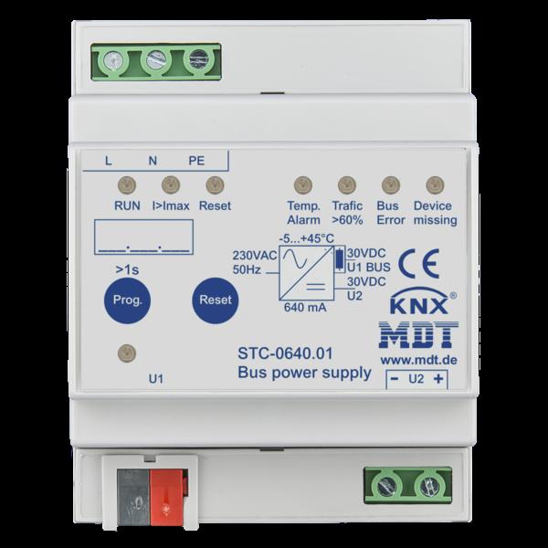 MDT 640 mA Busvoeding met diagnosefunctie 4TE Dinrail