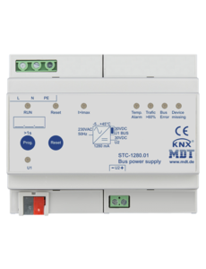 MDT 1280 mA Busvoeding met diagnosefunctie 6TE Dinrail