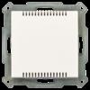 Kamertemperatuursensor Inbouw 55 mm, zuiver wit mat
