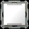 Kamertemperatuursensor Inbouw 55 mm, zuiver wit  glanzend