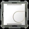 Kamertemperatuurregelaarmet instelwiel inb. 55 mm, zuiver wit glanzend