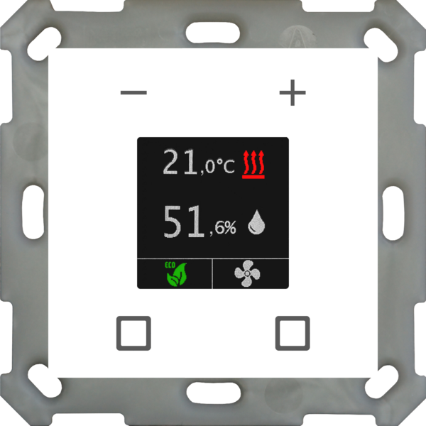 MDT Kamerthermostaat Smart 55 inb. 55 mm, zuiver wit mat of glanzend