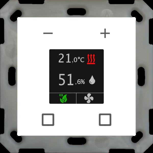 MDT Kamertemperatuur-uitbreidingsunit Smart 55 mm, zuiver wit  glanzend