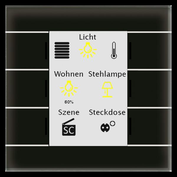 MDT Glastaster II Smart 4/6/8/12-voudig, zwart kleurendisplay en RGB-statusweergave