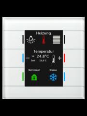 MDT Glastaster II Smart 4/6/8/12-voudig, + temp sensor wit, kleurendisplay en RGB-statusweergave