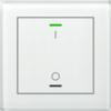 Glastaster II Light 1-voudig wit I/O Symbol met temp. sensor