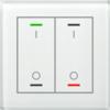 Glastaster II Light 2-voudig wit I/O Symbol met temp. sensor