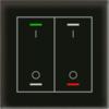 Glastaster II Light 2-voudig zwart  I/O Symbol met temp. sensor