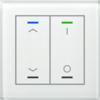 Glastaster II Light 2-voudig wit UP/Down en I/O Symbol met temp. sensor