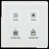 Glazen Drukknop Plus 4-voudigwit  incl. temp.sensor omringend oriëntatielicht