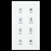 Glazen Drukknop Plus 8-voudigwit  incl. temp.sensor omringend oriëntatielicht