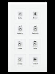 MDT Glazen Drukknop Plus 8-voudig  incl. temp.sensor omringend oriëntatielicht