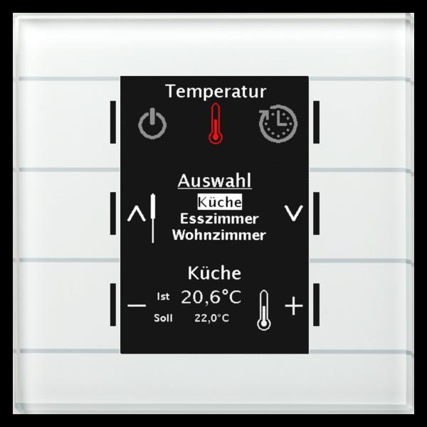 MDT MDT Glazen centrale bedieneenheid met kleuren display en temperatuursensor