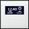 MDT Glazen centrale bedieneenheid  wit met LCD display