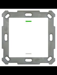 MDT Taster Light 55  1 voudig RGBW met temp.sensor zuiver wit glanzende, NEUTRAAL versie