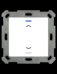 MDT Taster Light 55  1 voudig RGBW  zuiver wit glanzende, UP/Down symbool