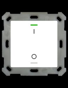 MDT Taster Light 55  1 voudig RGBW zuiver wit glanzend  I/O symbool