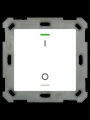 MDT Taster Light 55  1 voudig RGBW met temp. sensor zuiver wit glanzend  I/O symbool