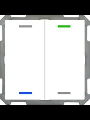 MDT Taster Light 63  2-voudig met temp.sensor studiowit glanzende, NEUTRAAL versie