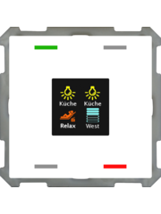 MDT Taster Smart 63  4-voudig met kleurendisplay, met temp. /vochtigheidssensor