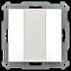 Taster 55mm  2-voudig Inbouw zuiver wit mat