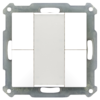 Taster 55mm  4-voudig Inbouw zuiver wit mat